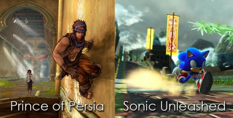 Prince of Persia and Sonic Unleashed